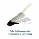 Bulle de carenage claire GSX-R 1000 K3 2003-2004